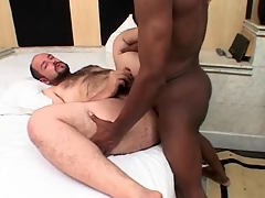 Chubby bear fucked in the exasperation by outrageous cock