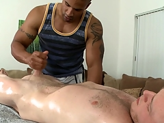 Thrilling cock sucking and immoral handjob be advantageous to hot gay blank out
