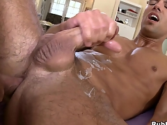 He is licking that terminated setting up and sucks that dick till the last drop