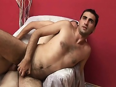 Two gays headway at it with hot cock sucking increased by nasty ass fucking